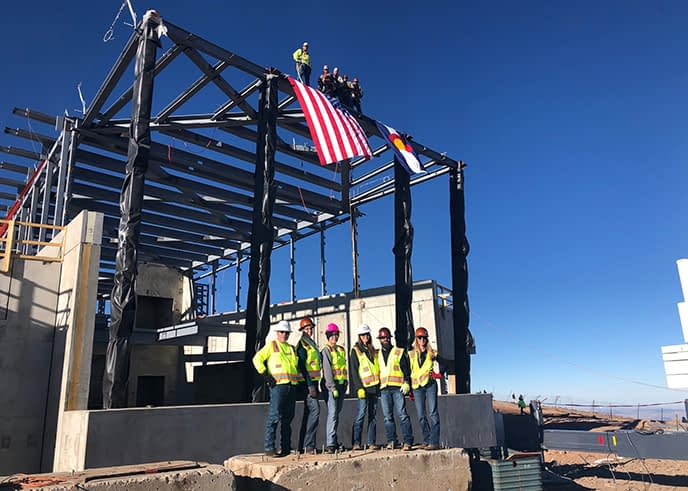 Pikes Peak Topping Out